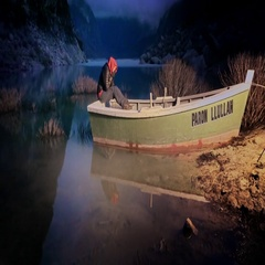 Woman enjoying the nigh and stars on a boat Stock Footage