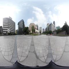 360VR video on square at Zhongshan Hall Stock Footage