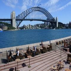 87 Landscape of Sydney Harbour Bridge in Sydney Australia Stock Footage