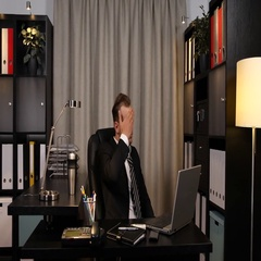 Attractive Business Man Turn On Cold Air Conditioner Hot Day Office Indoor Fresh Stock Footage