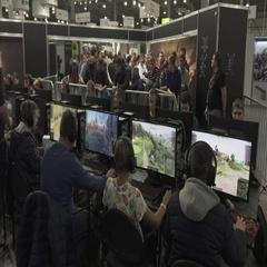Group of teenage gamers plays online video games. 4K Stock Footage