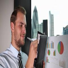 Happy Business Male Holding Agenda Hand Writing London Skyline Corporation Tower Stock Footage