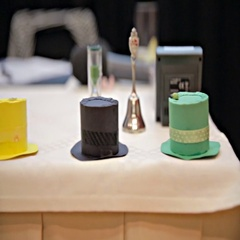 Six thinking hats on table slide over Stock Footage