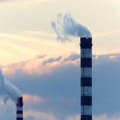 Industrial chimney smoke. Stock Footage