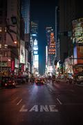 Time Square by Night Stock Photos