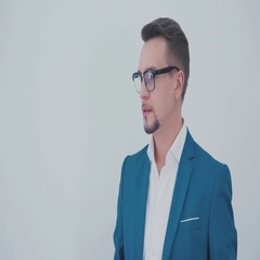 Portrait of an attractive and successful man in glasses Stock Footage