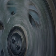 Large pulley rotates mounted on the gearbox to reduce high speed Stock Footage