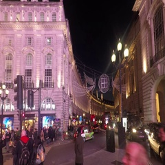London Piccadilly Circus at night 4K Stock Footage