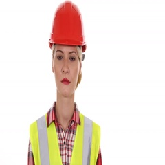 Serious Engineer Woman Trustworthy Lady Looking Camera Confident Presentation Stock Footage