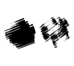 Brush stroke vector set. Stock Illustration