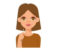 Smiling woman vector illustration. Stock Illustration