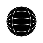 Isolated global sphere design Stock Illustration