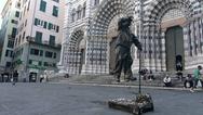 Genova, Italy September 19, 2016: a street artist exhibition Stock Footage
