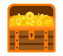 Treasure chest vector illustration. Stock Illustration