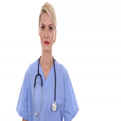 Attractive Medical Doctor Woman Look Camera Trustful with Pride Hospital Cabinet Stock Footage