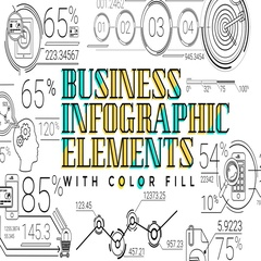 30 Line Infographic Elements Stock After Effects