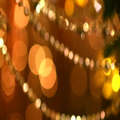 Christmas and New Year Golden Decoration Stock Footage