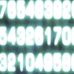Hexadecimal code from a lcd monitor like abstract Stock Footage