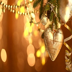 Christmas and New Year Golden Decoration. Stock Footage