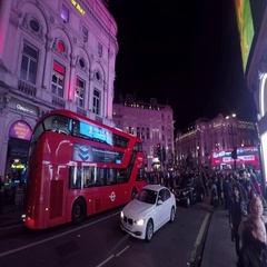 London Piccadilly Circus at night from Shaftesbury Avenue 4K Stock Footage
