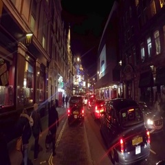 Shaftesbury Aenue in London at night 4K Stock Footage