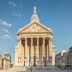 4K time lapse video of Pantheon, Paris Stock Footage