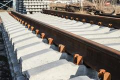 New rails and sleepers Stock Photos