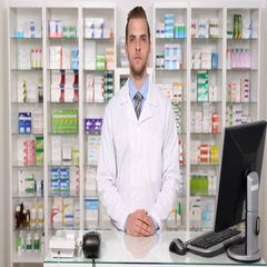 Experienced Pharmacist Man Look Camera with Hand Gesture Sign Seriously Thumb Up Stock Footage