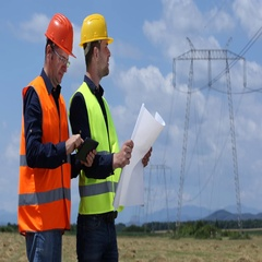 Team of Master Engineer Men Talking and Analyzing Wire Lines Technology Plans Stock Footage