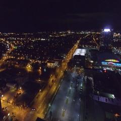Aerial footage Niagara New York 4k Stock Footage