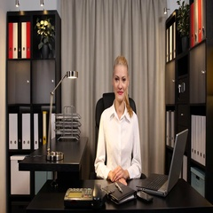 Happy Businesswoman Looking Camera Positive Yes Response in Office Room Interior Stock Footage