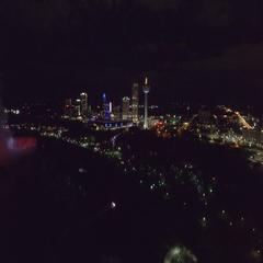 Aerial footage Niagara Falls Canada 4k Stock Footage