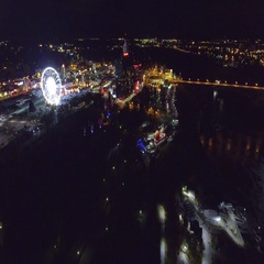 Aerial video Niagara Falls Ontario Canada 4k Stock Footage