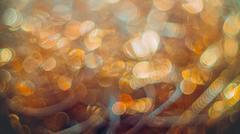 Golden streamers with sparkling glitter - Christmas holidays hackground Kuvituskuvat