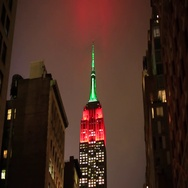 Time Lapse Empire State Building at Night in Manhattan New York Stock Footage