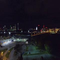 Aerial video USA Canadian boarder Niagara New York Stock Footage