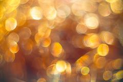 Golden streamers with sparkling glitter - Christmas holidays background Kuvituskuvat