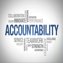 Accountability - Animated Word Cloud Stock Footage