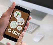 GO GREEN Life Preservation Protection Growth Project About Business Gr Stock Photos