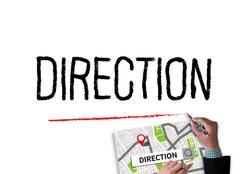 DIRECTION City Map Destination Way Route  City Map Destination Route - Stock Photos