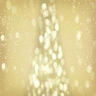 Golden christmas tree symbol seamless loop 4k (4096x2304) Stock Footage