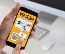 Web Design Software Media WWW and Website Design responsive web design Stock Photos