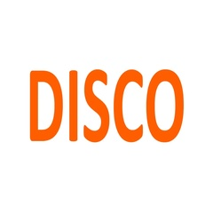 Word Disco consists of a set of musical notes Stock Footage