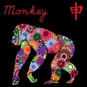 Chinese Zodiac Sign Monkey Stock Illustration