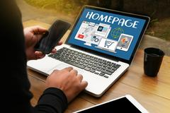 HOMEPAGE Global  Address Browser Homepage   Internet Website Design So Stock Photos