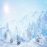 Christmas decoration in winter landscape loop 4k (4096x2304) Stock Footage