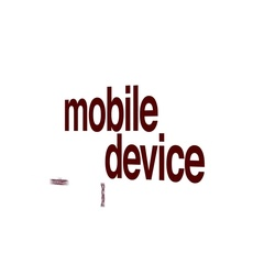 Mobile device animated word cloud. Stock Footage
