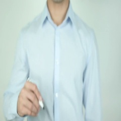 Licensed, Writing On Transparent Screen Stock Footage