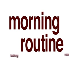 Morning routine animated word cloud. Stock Footage