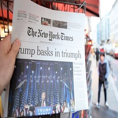 The New York Times Donald Trump new USA president Stock Footage